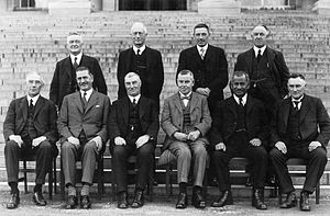Āpirana Ngata - Coalition Cabinet of 1931. Ngata is seated on the front row, second from right.