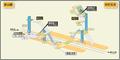 Nakamura Nisseki station map Nagoya subway's Higashiyama line 2014.png