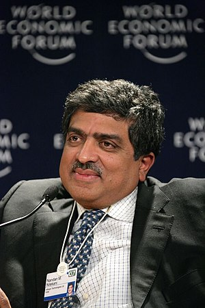 Nandan Nilekani - Nilekani at the World Economic Forum in Davos, 2007