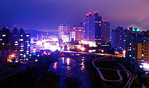 Luzhu District, Taoyuan - Image: Nankan Creek Night