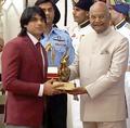 Neeraj Chopra at Arjuna Award 2018-1.png