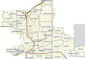 Neighborhoods in Atlanta - Neighborhoods of Intown Atlanta