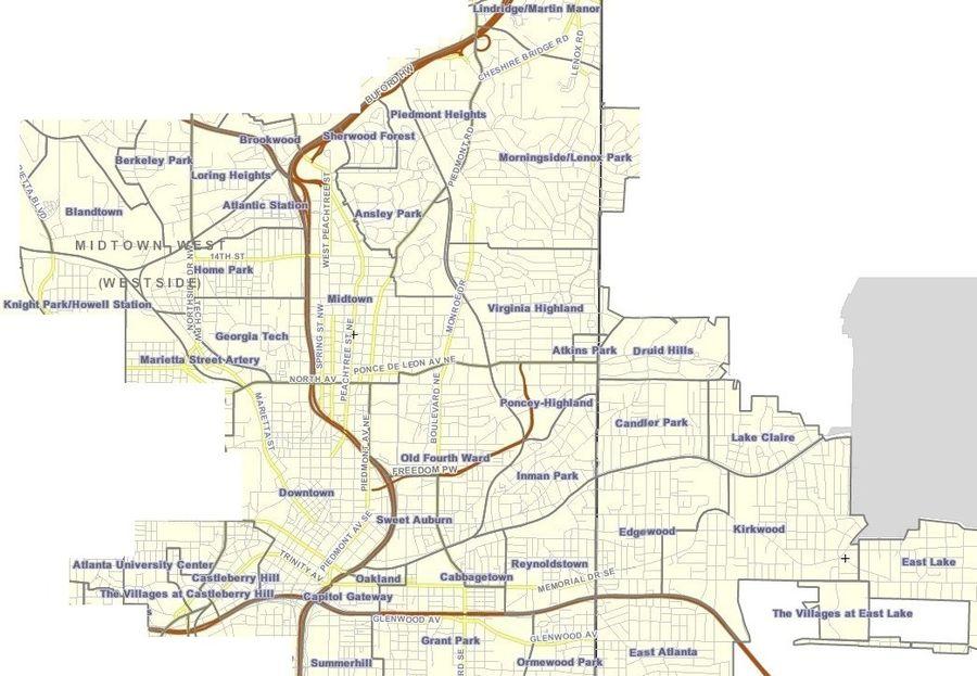 Neighborhoods In Atlanta  Wikipedia