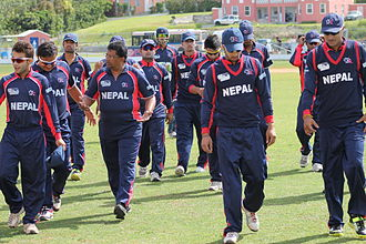 Nepal national cricket team - Nepal cricket team during the 2013 ICC World Cricket League Division Three in Bermuda