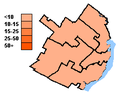 New Democratic Party election results, Quebec City 2004.PNG