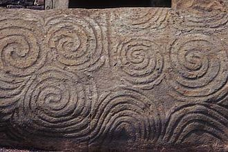 Curve - Megalithic art from Newgrange showing an early interest in curves