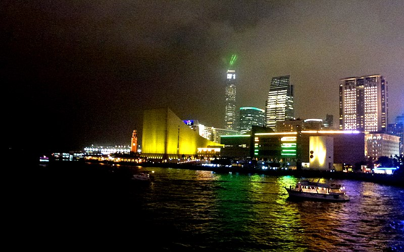 File:Night View Kowloon on Dinner Cruise Ship Victoria Harbour Hong KOng - panoramio (2).jpg