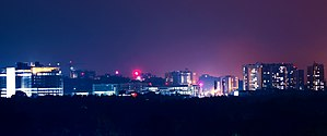 Kazhakoottam - Beautiful Night View of Technopark Trivandrum which is the largest IT Park in Asia is at Kazhakootam, Trivandrum.