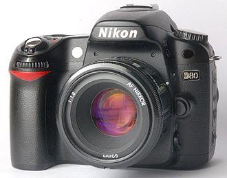 Nikon D80 - Image: Nikon D80 with Nikkor 50 f 1.8 AF