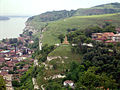 Nikopol, Bulgaria from above, green hills, Russian War Monument, beautiful town.jpeg
