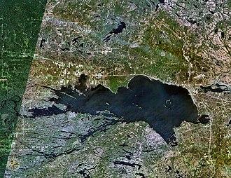 Lake Nipissing - Image: Nipissing 79.84021W 46.31887N