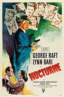 <i>Nocturne</i> (1946 film) 1946 black-and-white film noir directed by Edwin L. Marin