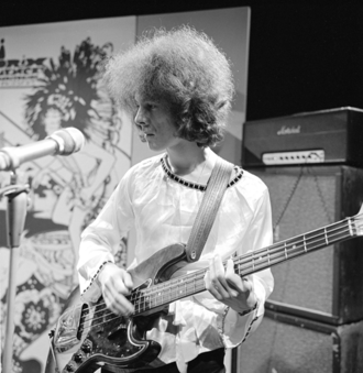 Noel Redding - Noel Redding playing as a member of The Jimi Hendrix Experience on Dutch television show Hoepla in 1967
