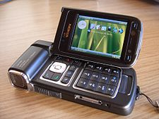 The Nokia N93, an example of Nokia's Nseries multimedia product lineup.