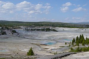 Geothermal areas of Yellowstone - Porcelain Basin, Norris Geyser Basin in Yellowstone