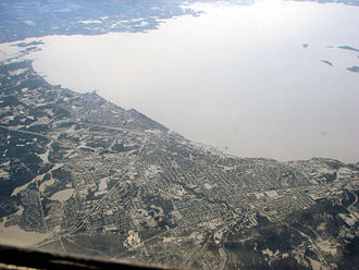 Lake Nipissing - Aerial view of Lake Nipissing and North Bay