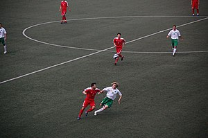 Turkmenistan national football team - Turkmenistan match against North Korea in June, 2008.