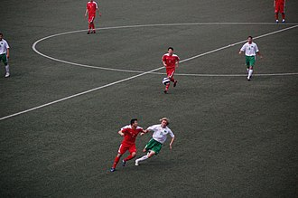 Turkmenistan national football team - Turkmenistan match against North Korea in June 2008.