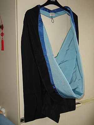 Academic dress of the University of Nottingham - The Nottingham MSc hood