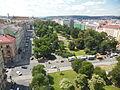 Novoměstská radnice, pohled na Karlovo náměstí.jpg