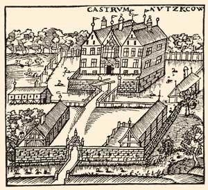 Nütschau Priory - Nütschau manor house (woodcut)