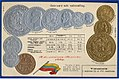 Numismatic postcard from the early 1900's - United States of Venezuela 02.jpg