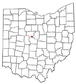 Location of Waldo, Ohio