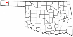 Location of Keyes, Oklahoma