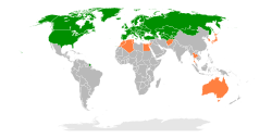 OSCE participating states   Partners for Co-operation