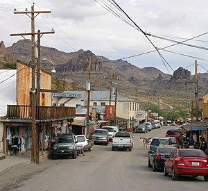 La route 66 à Oatman (Arizona)