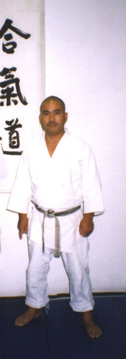 Obata in his dojo at holliwood 1996.jpg