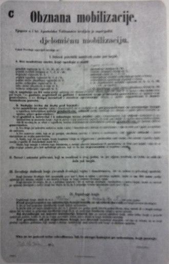 Croatia during World War I - Proclamation of mobilization in Croatia, 1914