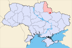 Location of Okhtyrka