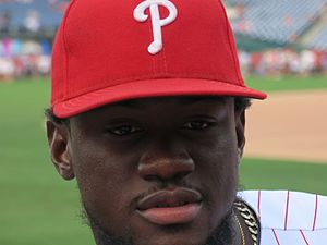 Odubel Herrera - Herrera with the Phillies in 2016