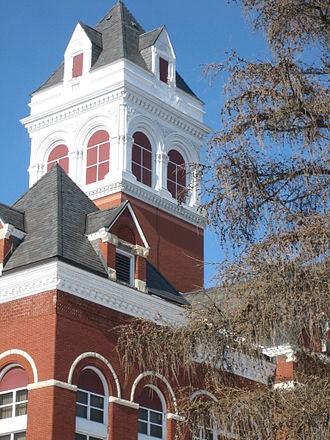 Ogle County Courthouse - Builders added the striking cupola in 1892, after the courthouse's dedication.