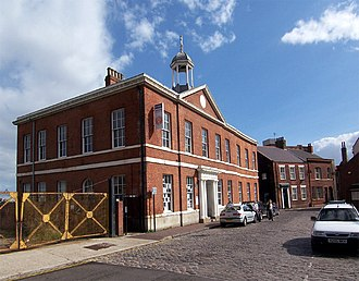 Port of Hull - The second Hull Dock Company offices (built 1820), close to the entrance to the former Queen's Dock