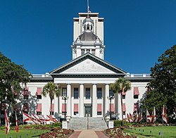 Old Florida State Capitol, Tallahassee, East view 20160711 1