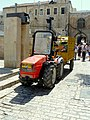 Old Jerusalem Lions Gate street mini tractor.jpg