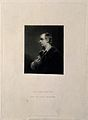 Oliver Goldsmith. Mezzotint by S. W. Reynolds after Sir J. R Wellcome V0002309.jpg