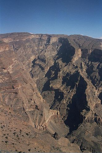 Jebel Shams - Image: Oman Jebel Shams 9