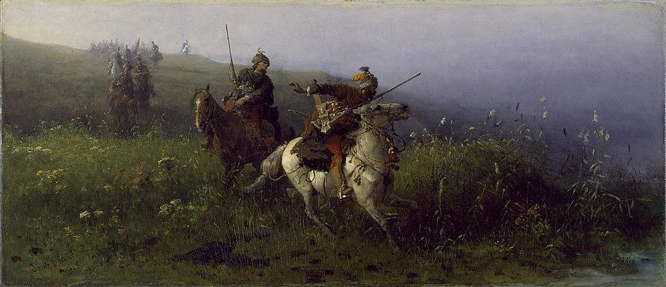 On Reconnaissance, Józef Brandt, 1876