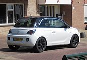 Opel Adam rear three quarters in Aardenburg.JPG
