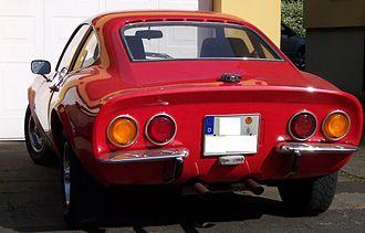 Opel GT - Rear view