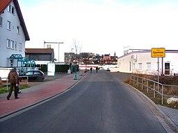 Oppenheim Ortseinfahrt von Dienheim (Saarstraße) kommend 20.1.2008