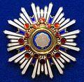 Order of the Sacred Treasure grand cordon star (Japan) - Tallinn Museum of Orders.jpg