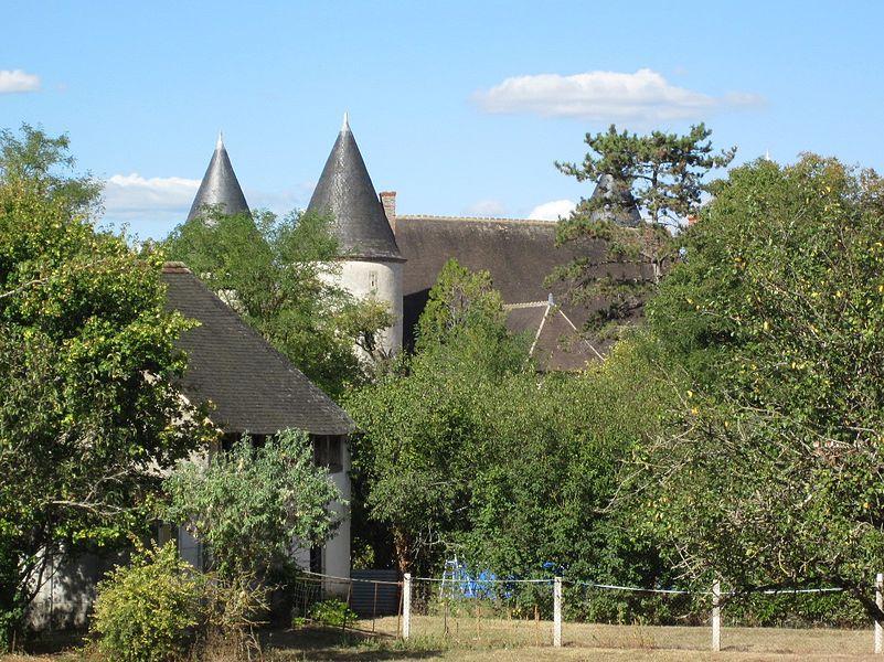 Château de l'Ormeteau, ancienne commanderie de Templiers, commune de Reuilly, Indre, France.
