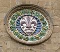 Orsanmichele, tondo con stemma di Firenze.JPG