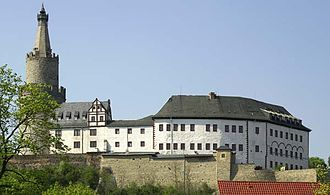 Hof, Bavaria - Castle Osterburg in Weida is considered the birthplace of the Vogltand which once ruled Hof