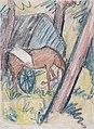 Otto Mueller - Pferd am Wagen im Wald - ca1927.jpeg