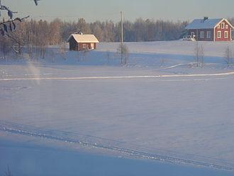 Ounasjoki - Ounasjoki River in wintertime